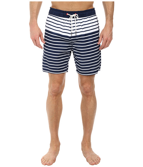 Sperry Top-Sider - Breton Stripe Block Volley Short (Deep Indigo) Men