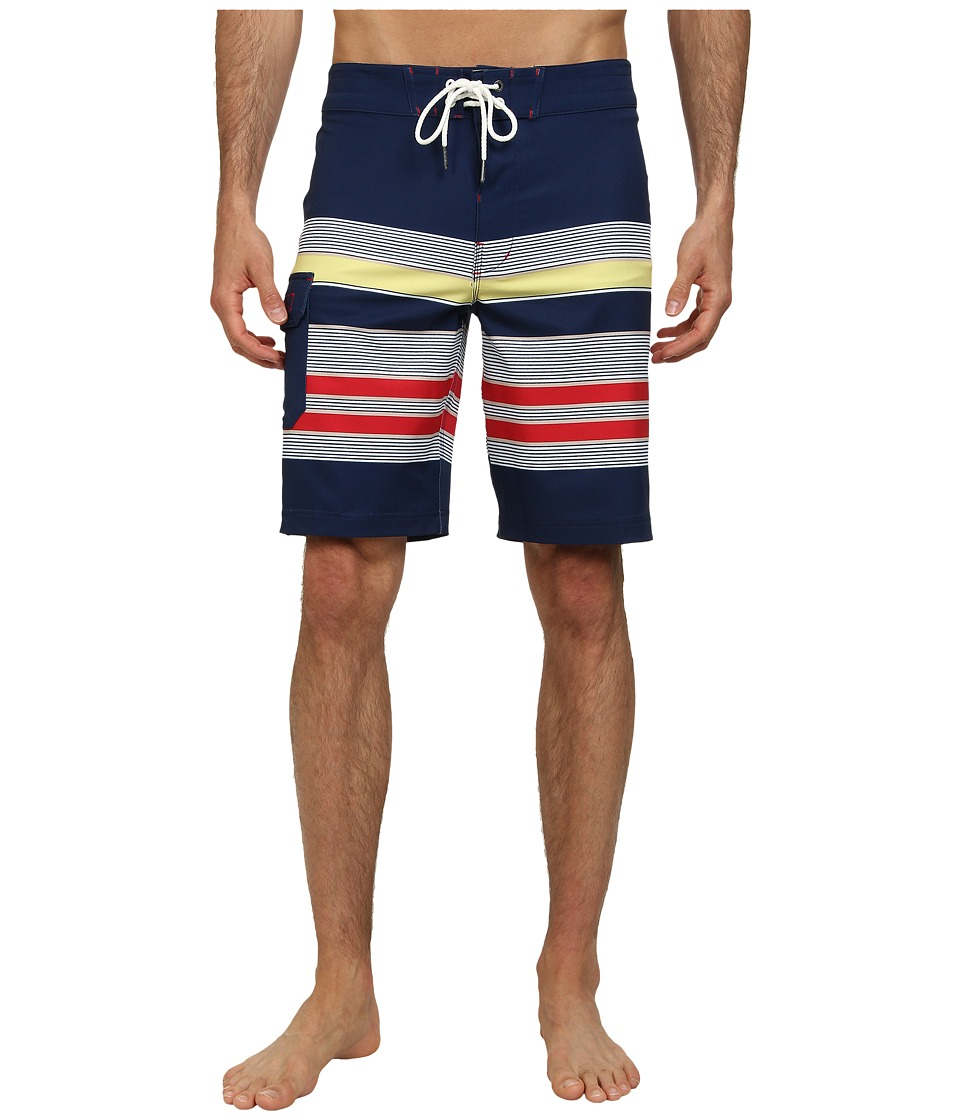 Sperry Top-Sider - Sea Port Stripe Boardshort (Multi) Men's Swimwear