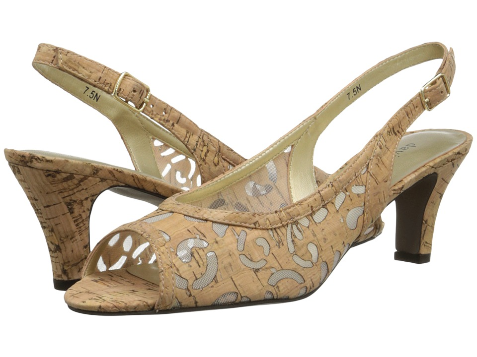 David Tate - Rosie (Natural) Women's Sling Back Shoes
