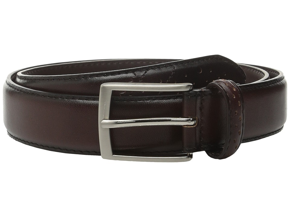 Stacy Adams - 32mm Full Grain Leather Top w/ All Leather Lining Perforated Tip (Brown) Men's Belts