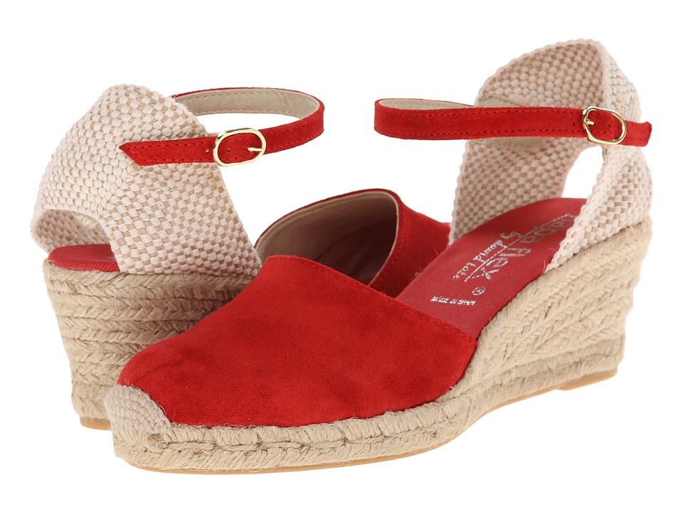 David Tate - Europa (Red) Women's Wedge Shoes