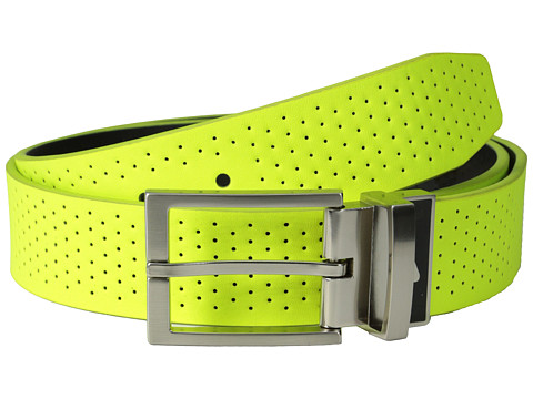 Nike - Perforated Reversible (Volt/Black) Men's Belts