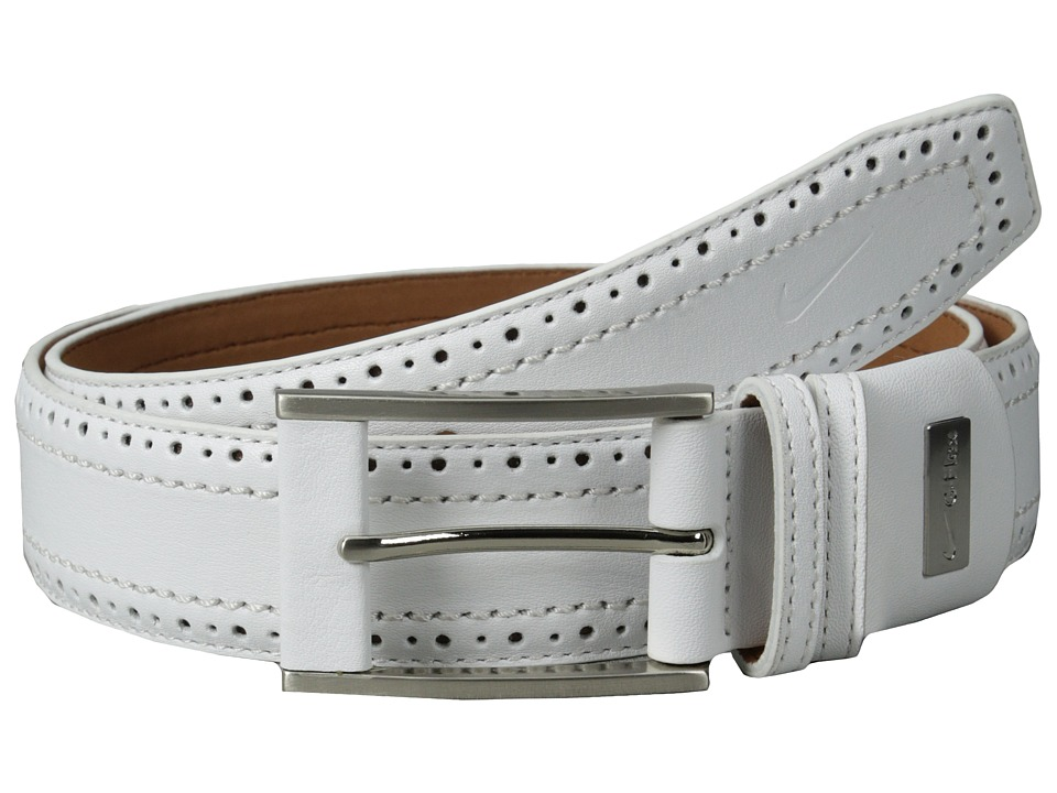 Nike - Perforated Edge Premium (White) Men's Belts