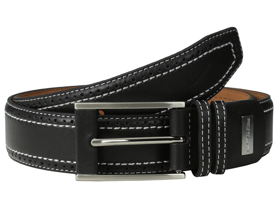 Nike - Perforated Edge Premium (Black) Men's Belts