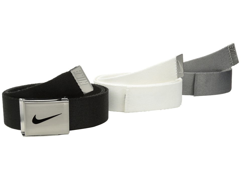 Nike - Nike 3-in-1 Web Pack (Black/White/Grey) Men's Belts