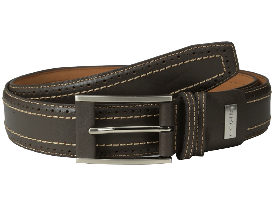 Nike - Perforated Edge Premium (Dark Brown) Men's Belts