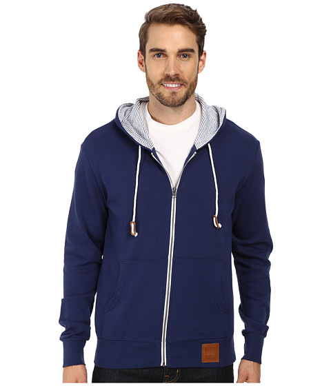 Sperry Top-Sider - Hampton Starboard Solid Zip Up Hoodie (Deep Indigo) Men