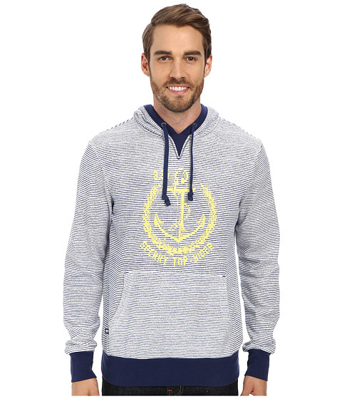 Sperry Top-Sider - Hampton Stamp and Seal Stripe Pullover Hoodie (Ivory) Men's Sweatshirt