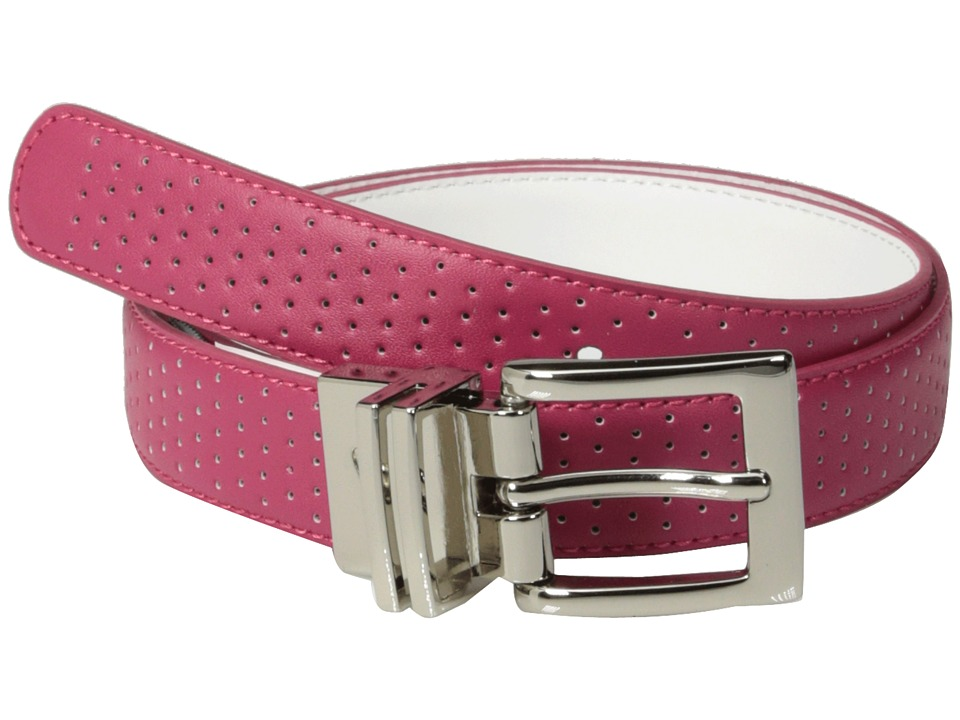 Nike - Perforated to Smooth Reversible (Fuchsia Force/White) Women's Belts