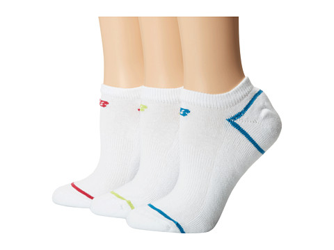 New Balance - Cotton No Show 3 Pack (White) No Show Socks Shoes