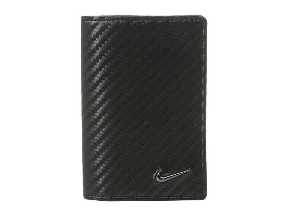Nike - Carbon Fiber Texture CC Fold (Black) Credit card Wallet