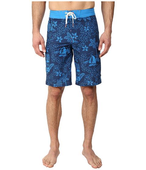 Sperry Top-Sider - Tiki Party Boardshort (Deep Indigo) Men