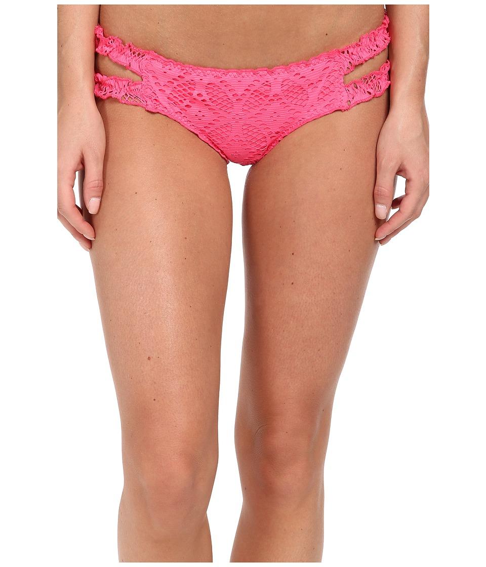 BECCA by Rebecca Virtue - Ritual Double Tab Hipster Bottom (Coral) Women's Swimwear