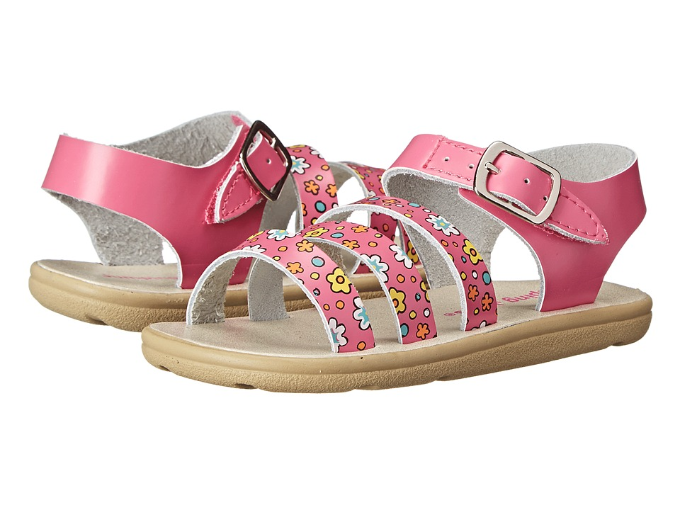 Jumping Jacks Kids - Poppy (Toddler/Little Kid) (Hot Pink Leather/Multi Trim) Girls Shoes