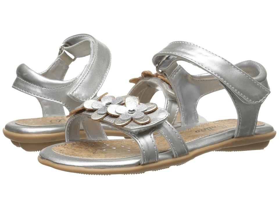 Jumping Jacks Kids - Balleto - Jasmine (Toddler/Little Kid/Big Kid) (Silver Metallic/Soft Gold Metallic Trim) Girls Shoes