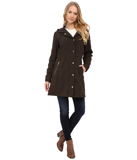 DKNY - Soft Shell Anorak Jacket (Loden) Women's Coat