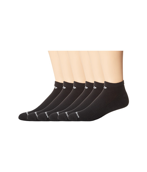 New Balance - Cotton Low Cut 6 Pack (Black) Low Cut Socks Shoes