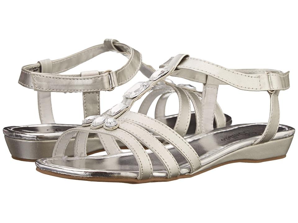 Jumping Jacks Kids - Balleto - Renee (Little Kid/Big Kid) (Silver) Girls Shoes