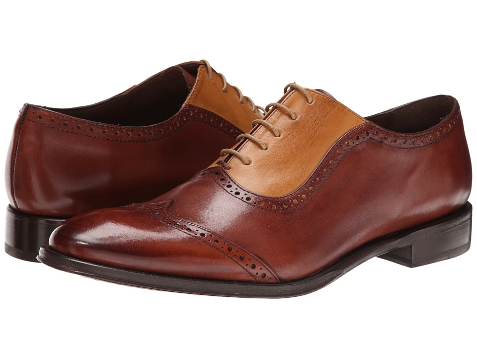 Messico - Felix (Yellow/Cognac Leather) Men's Dress Flat Shoes