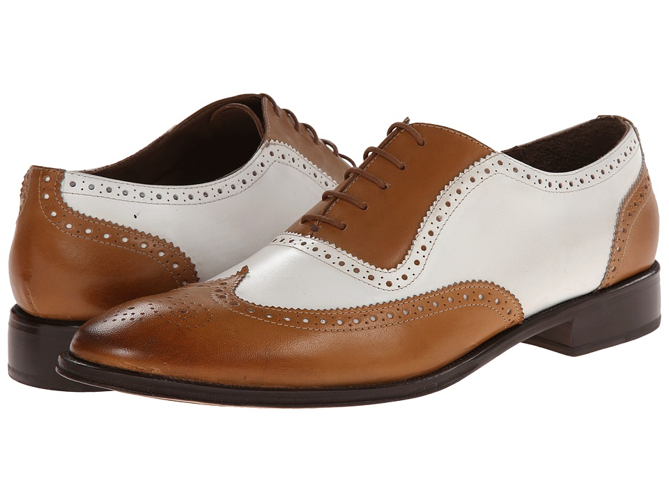 Messico - Capuchino (Tan/White Leather) Men's Dress Flat Shoes
