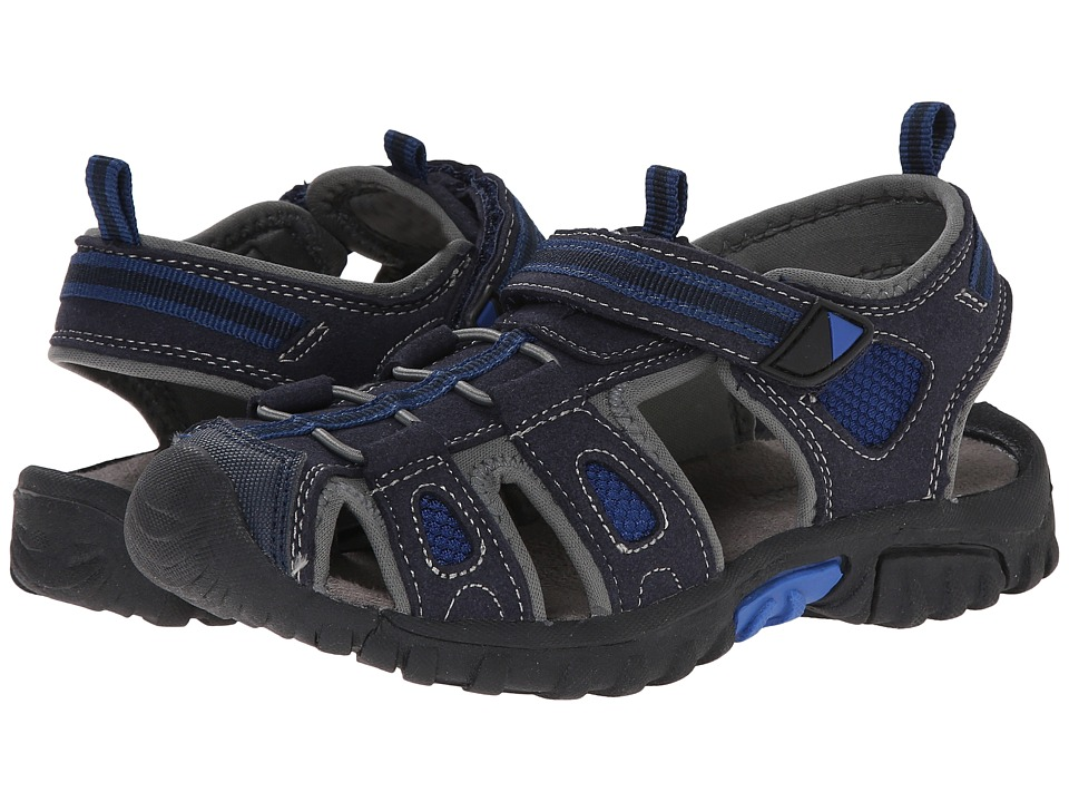 Jumping Jacks Kids - Sand Cruiser (Toddler/Little Kid) (Navy Blue Microsuede/Royal Blue & Navy Trim) Boys Shoes
