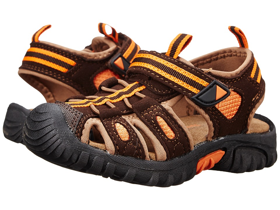 Jumping Jacks Kids - Sand Cruiser (Toddler/Little Kid) (Chocolate Brown Microsuede/Brown & Orange Trim) Boys Shoes