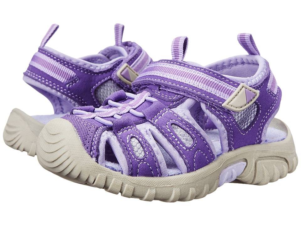 Jumping Jacks Kids - Sand Cruiser (Toddler/Little Kid) (Purple Microsuede/Lilac & Purple) Girls Shoes