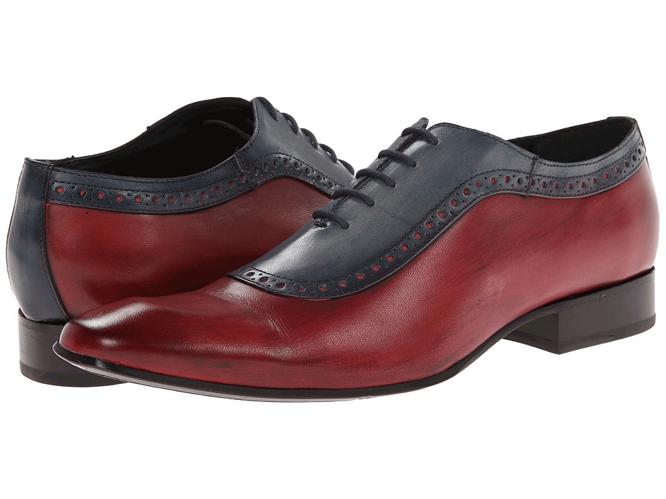 Messico - Bohemios (Blue/Red Leather) Men's Dress Flat Shoes