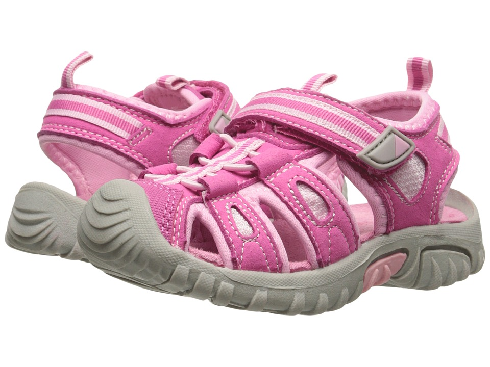 Jumping Jacks Kids - Sand Cruiser (Toddler/Little Kid) (Hot Pink Microsuede/Bubble Gum Pink & Hot Pink Trim) Girls Shoes