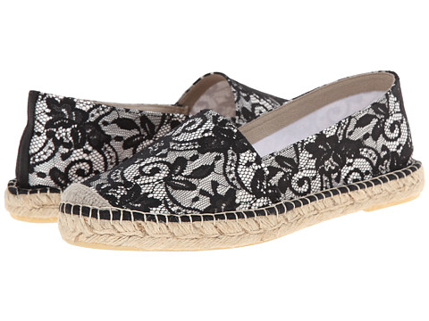 David Tate - Sorento (Black/White) Women's Flat Shoes