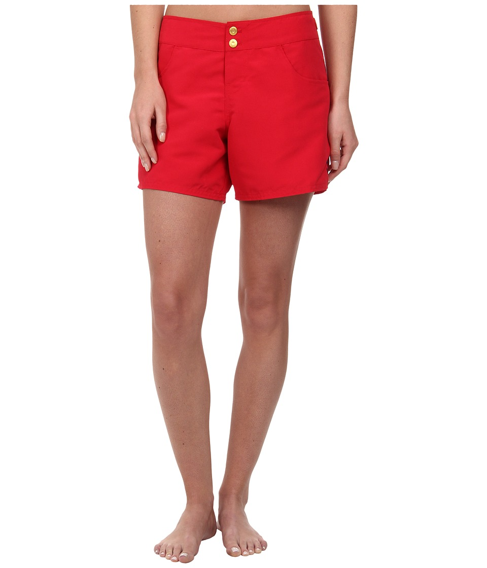 Sperry - Ahoy, Matey Boardshort (Ruby) Women's Swimwear