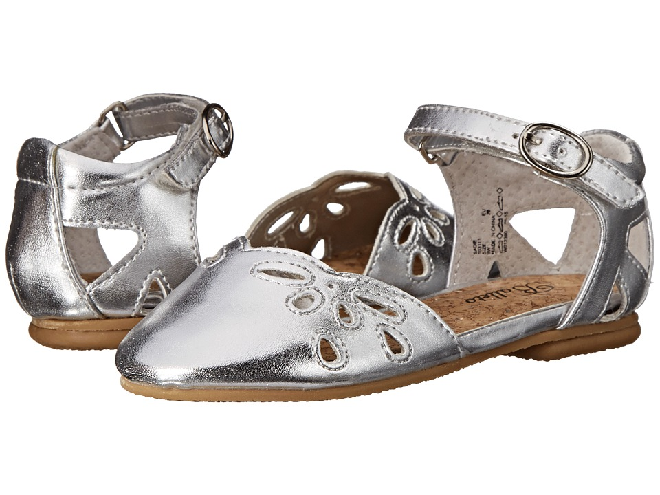 Jumping Jacks Kids - Balleto - Sadie (Toddler/Little Kid/Big Kid) (Silver Metallic) Girls Shoes
