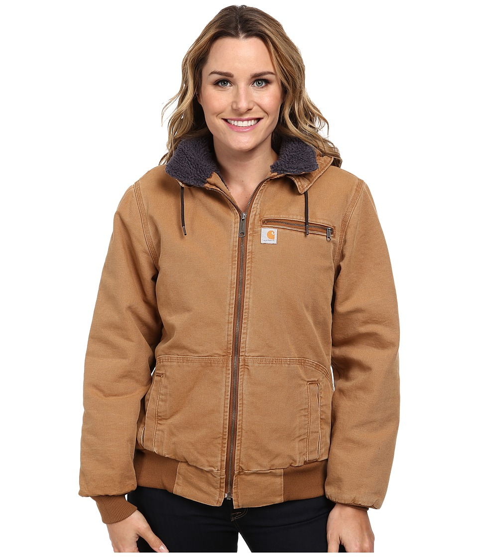 Carhartt - Weathered Duck Wildwood Jacket (Carhartt Brown/Birch Sherpa) Women's Jacket