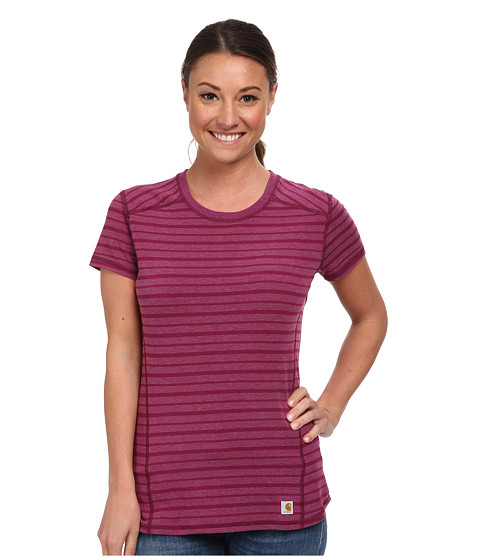 Carhartt - Force T-Shirt (Magenta Heather Stripe) Women