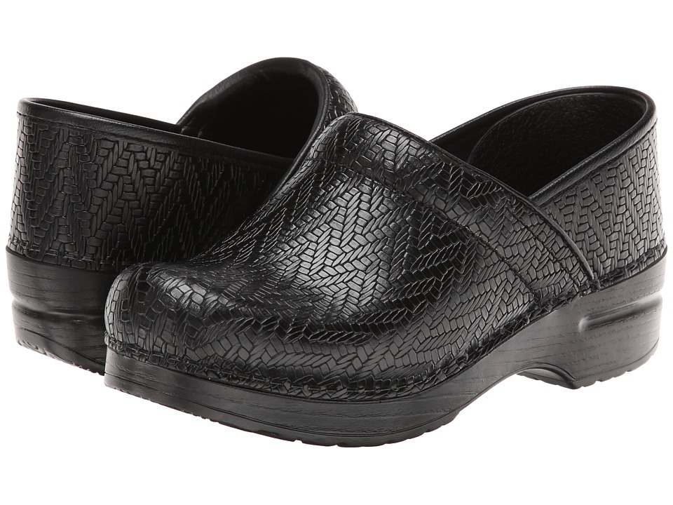Dansko - Professional (Black Woven) Clog Shoes