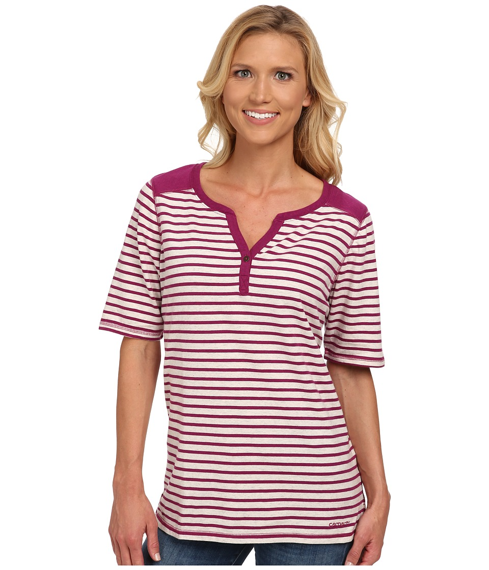 Carhartt - Dorena Henley (Winter White Heather/Magenta Heather) Women