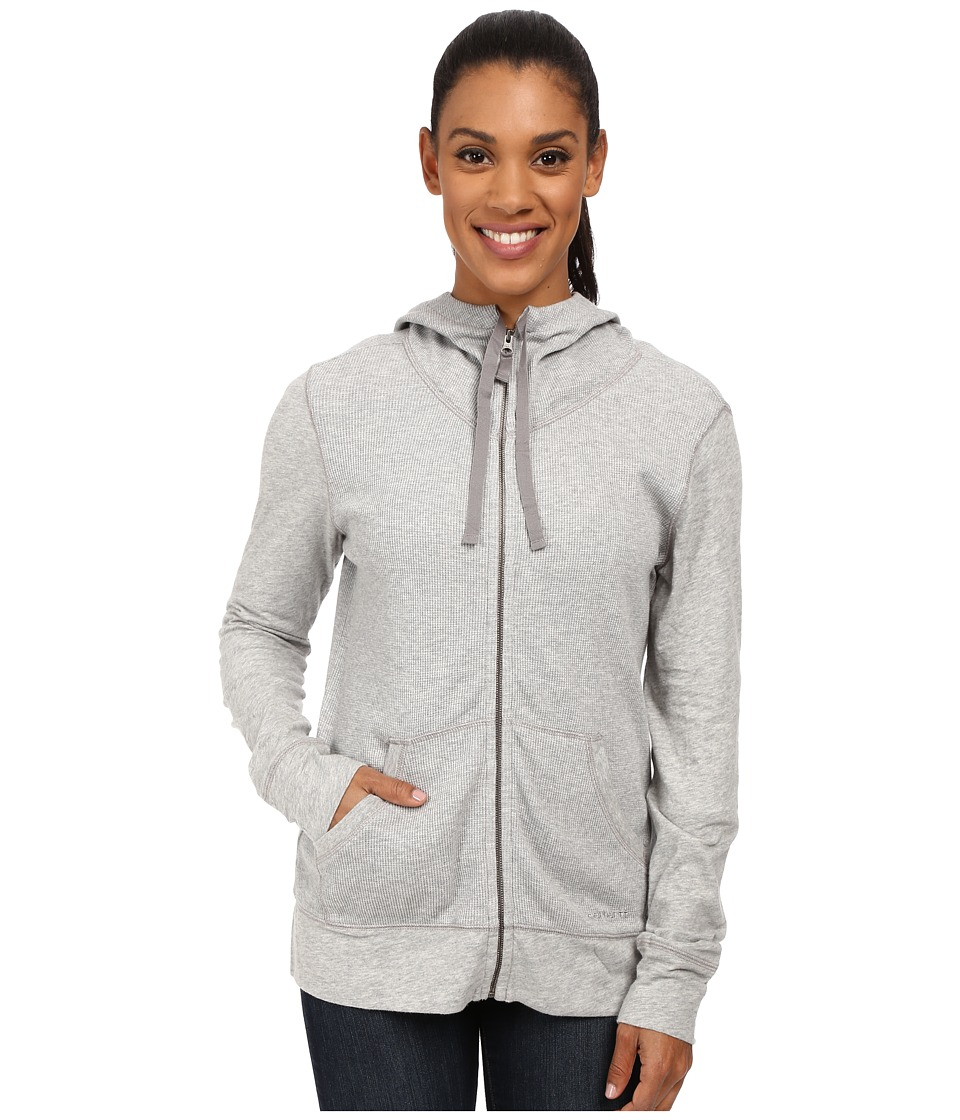 Carhartt Hayward Zip Front Hoodie (Asphalt Heather) Women