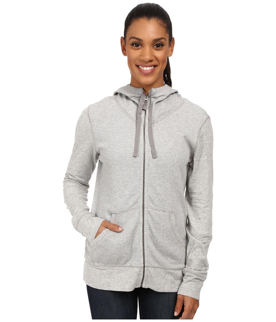Carhartt - Hayward Zip Front Hoodie (Asphalt Heather) Women's Sweatshirt