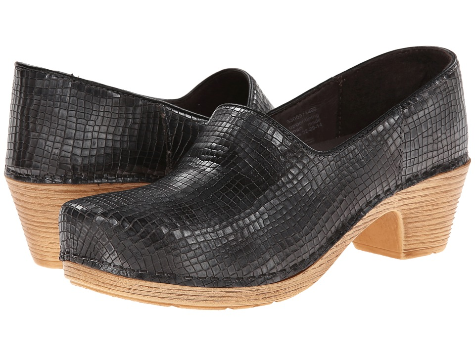 Dansko - Marisol (Pewter Metallic Croc) Women's Clog Shoes