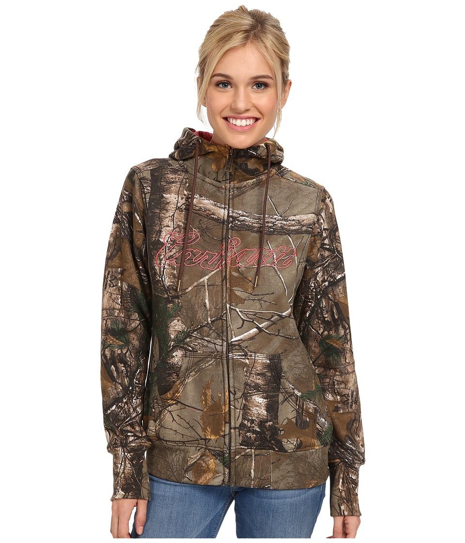 Carhartt Clarksburg Camo Zip Front Sweatshirt (Realtree Xtra/Wild Rose) Women