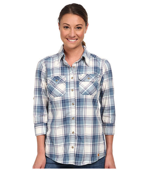 Carhartt - Huron Shirt (Dark Blue) Women's Short Sleeve Button Up