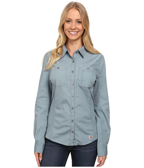 Carhartt - Minot Shirt (Slate Blue) Women's Long Sleeve Button Up