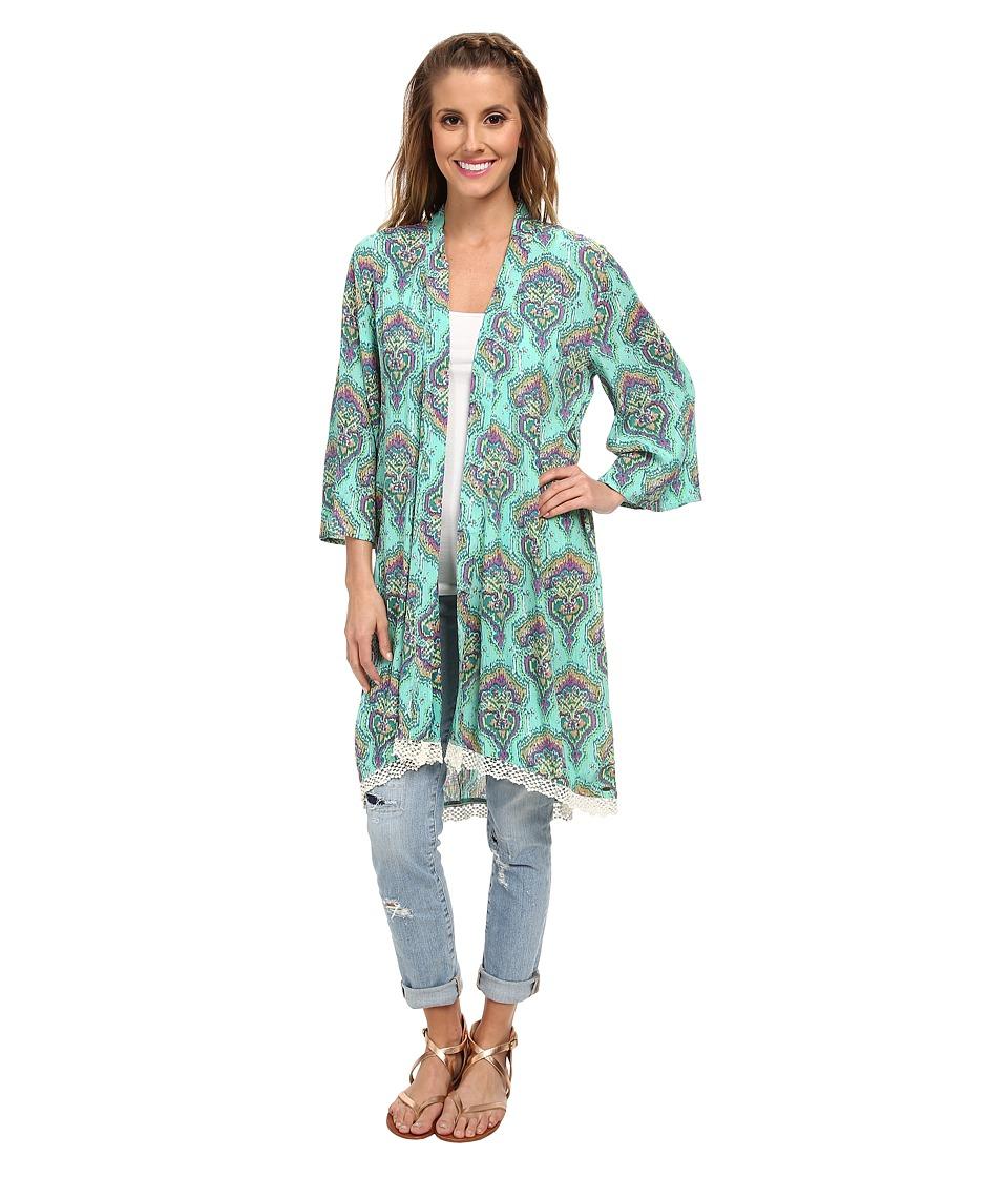 O'Neill - Angie Woven Kimono (Mint Julep) Women's Clothing