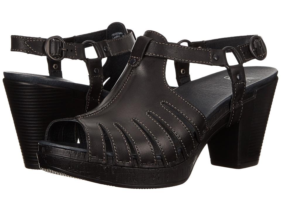 Dansko - Randa (Black Full Grain) Women's Toe Open Shoes