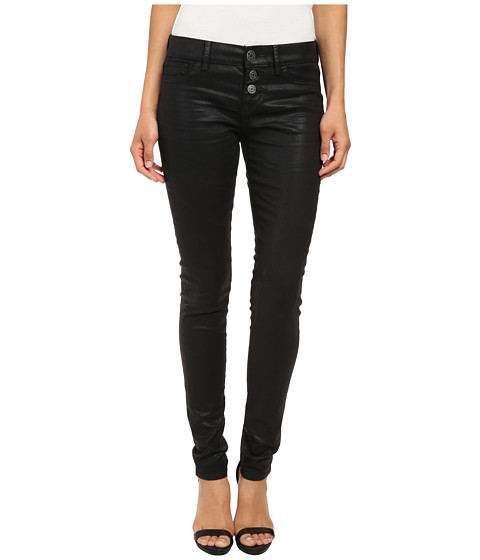Dittos - Patrice Exposed Button Fly (Black Wax) Women's Jeans