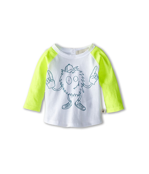 Stella McCartney Kids - Max Baby L/S Mascot T-Shirt (Infant) (White) Boy's T Shirt