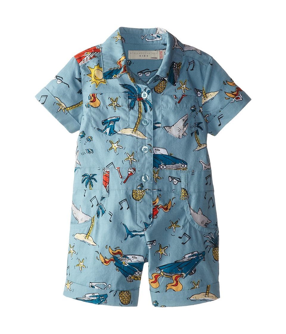 Stella McCartney Kids - James Shark Printed Romper (Infant) (Print) Boy's Jumpsuit & Rompers One Piece