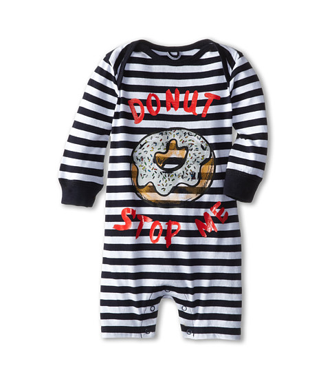 Stella McCartney Kids - Maxson Baby Donut Striped All In One (Infant) (Navy) Boy's Jumpsuit & Rompers One Piece