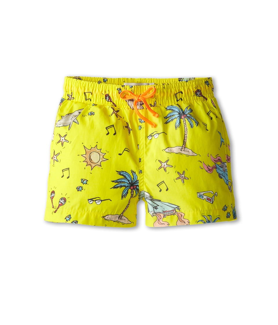 Stella McCartney Kids - Taylor Swim Trunks (Toddler/Little Kids/Big Kids) (Yellow) Boy's Swimwear