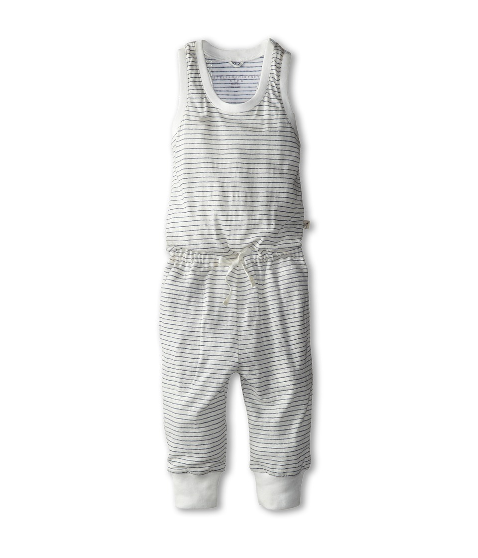 Stella McCartney Kids - Flo Striped Romper (Toddler/Little Kids/Big Kids) (Navy/White) Girl's Jumpsuit & Rompers One Piece